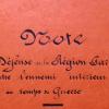 «Note sur la défense de la région parisienne contre l'ennemi intérieur en cas de guerre»