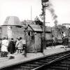 Le Panzerzug de « La Bataille du rail» en gare de Bergerac, après la Libération