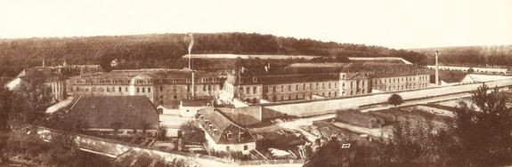 Maison centrale de Clairvaux (Aube), ancien monastère devenu prison au 19e siècle.