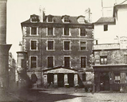 Photo de la prison militaire de l'Abbaye le 9 avril 1854.