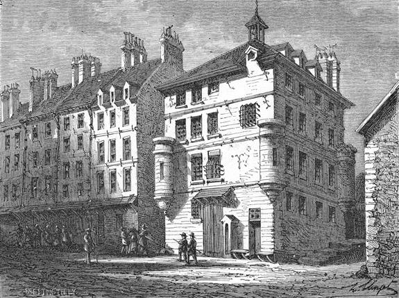 Gravure représentant la prison de l'Abbaye de Saint-Germain des Prés.