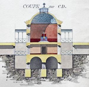 Dôme de la nouvelle prison militaire du Cherche-Midi, chapelle.