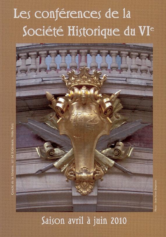 Programme des conférences de la Société Historique du VIe.