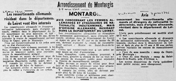 Journal Le Gâtinais, 25 mai et 8 juin 1940, centre de rassemblement de Cepoy.