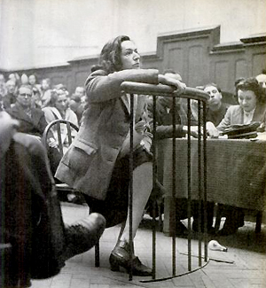 Madeleine Corabœuf, alias Magda Fontanges, tribunal militaire de Bordeaux, janvier 1947.
