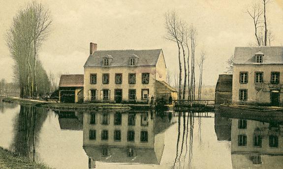 Canal du Loing. Moulins en aval des Verreries de Montenon, Cepoy. Collection Jacky Tronel