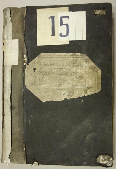 Couverture du registre d'écrou de la prison du Cherche-Midi dans lequel apparaît Alfred Dreyfus.