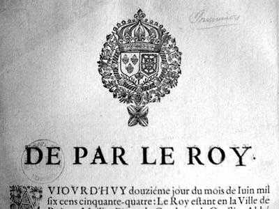 Réponse du roi Louis XIV à la requête des prisonniers pour dettes des prisons royales de Paris.