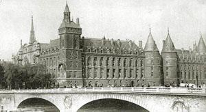 Prison de la Conciergerie, quai de l'Horloge à Paris.
