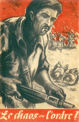 Tract de propagande publié après l'incendie du village de Mouleydier, le 21 juin 1944.