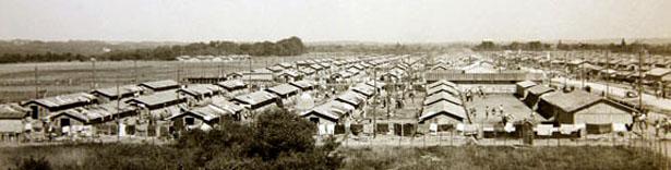 Vue générale du Camp de Gurs. Source : Archives nationales, cote F/7/15125.