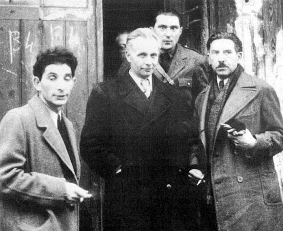 Francis Crémieux, Louis Aragon et Léon Moussinac, camp de St-Sulpice la Pointe.