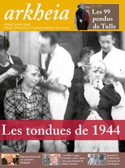 Couverture de la revue d'Histoire Arkheia, n° 17-18, 2006. Les tondues de 1944.