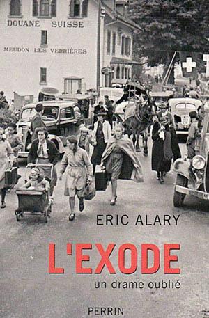 """Fac-similé de couverture du livre d'Eric Alary : """"L'exode, un drame oublié""""."""