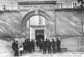 Entrée du pénitencier militaire d'Albertville (1900-1926)