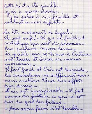 Cahier de Max Moulinier faisant le récit de sa détention à la prison militaire de Mauzac.