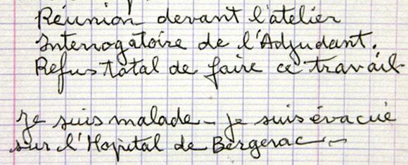 Cahier des mémoires de Max Moulinier, prisonnier politique à la prison de Mauzac