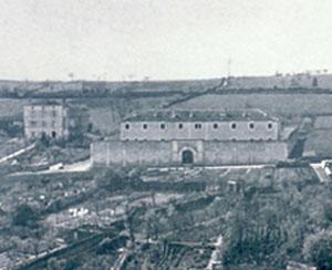 La prison militaire de Nontron, vers 1940.