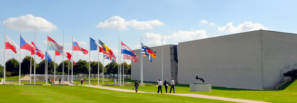 Vue générale du Mémorial de Caen