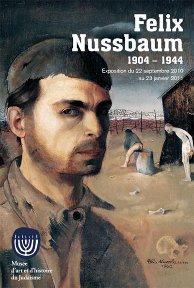 Affiche de l'exposition consacrée à Felix Nussbaum au Musée d'art et d'histoire du Judaïsme
