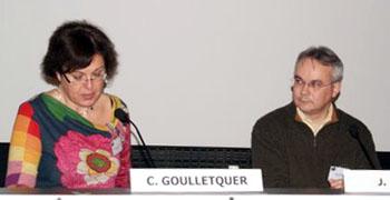 Catherine Goulletquer et Jacky Tronel, Mémorial de Caen, 20 novembre 2010
