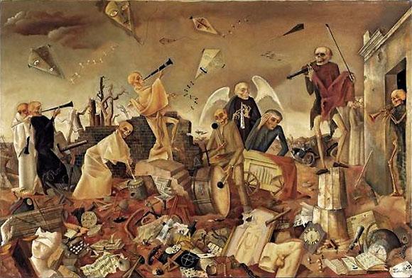 "Felix Nussbaum, ""Triomphe de la mort"", 1944."