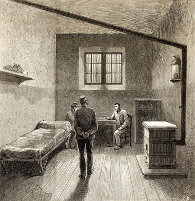 La cellule d'un condamné à mort à la prison de la Grande Roquette.