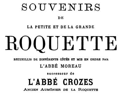Souvenirs de la Petite et de la Grande Roquette par l'abbé Moreau