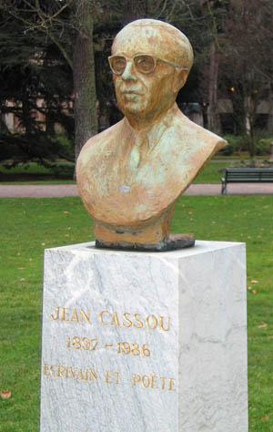 Buste de Jean Cassou, Jardin des Plantes, Toulouse.