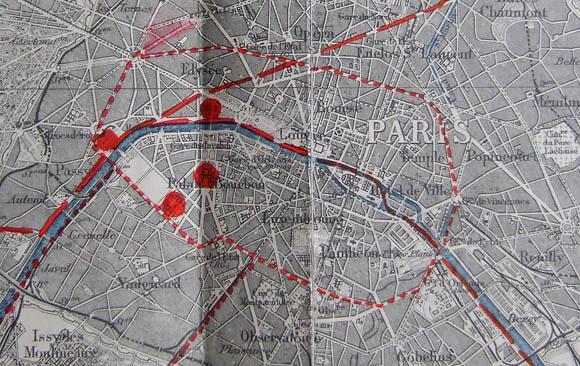 Plan de Paris 1932. Îlot central prévu par la note du Général Voiriot.