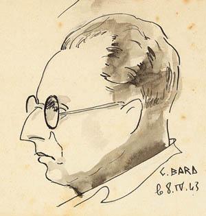 Jean Cassou, dessin Georges Bard, prison militaire de Mauzac