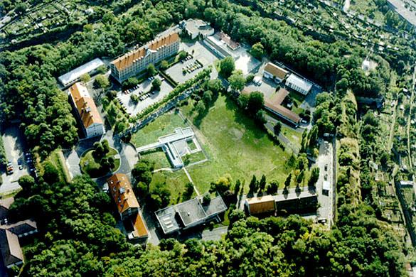 Vue aérienne du Fort d'Ivry, lieu d'exécution de condamnés à mort