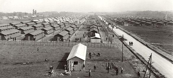 Vue générale du Camp de Gurs à la fin de l'année 1940.