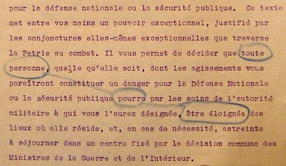 Circulaire d'application du décret-loi du 18 novembre 1939. Page 1