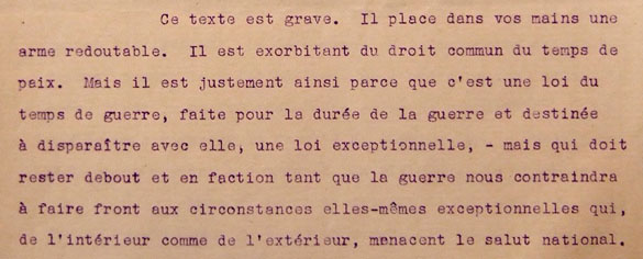 Circulaire d'application du décret-loi du 18 novembre 1939, page 4.