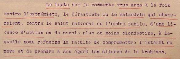 Circulaire d'application du décret-loi du 18 novembre 1939.
