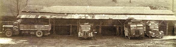 Camions destinés au transport du lignite jusqu'à la gare de Siorac de 1940 à 1944.