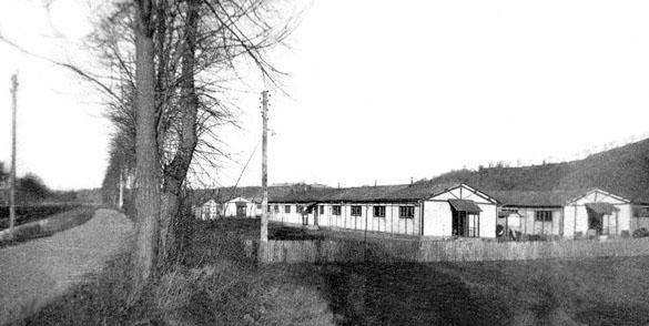 Baraquements du Camp Sud de Mauzac, siège du 652e GTE. Coll. Jacky Tronel.