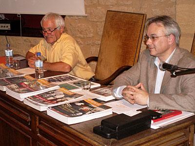 Conférence du 6 mai 2011 à Belvès (Dordogne), François Munoz et Jacky Tronel