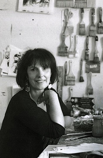 Francine Mayran dans son atelier.