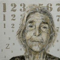 """""""Le Samudaripen ou le génocide tsigane"""", portrait de femme, Francine Mayran"""