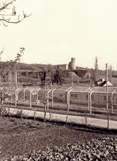 Centre pénitentiaire de Mauzac (Dordogne), camp Nord, années 1950.