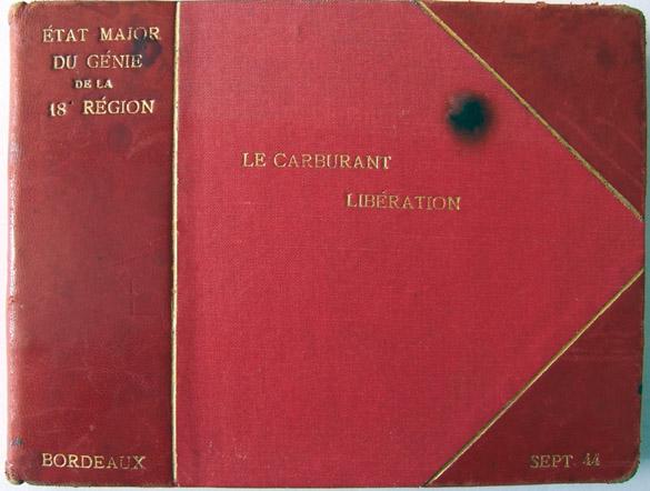 """Couverture du livret """"Le Carburant Libération"""", Bordeaux, septembre 1944."""