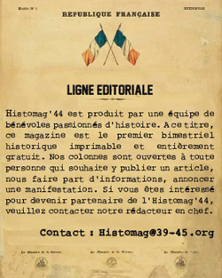 Ligne éditoriale Histomag'44.