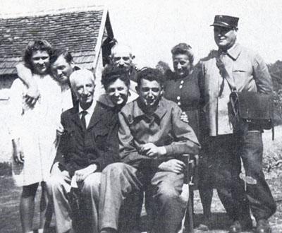 Tamara Volkonskaïa, Roger Ranoux et de Concha à la Bournèche en 1944.