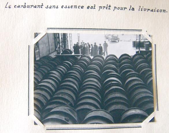 """""""Le carburant sans essence est prêt pour la livraison"""", 18e Région militaire, Bordeaux, septembre 1944."""