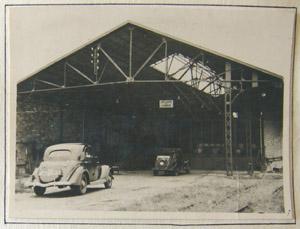 Usine de carburants, entrée, Bordeaux 1944.