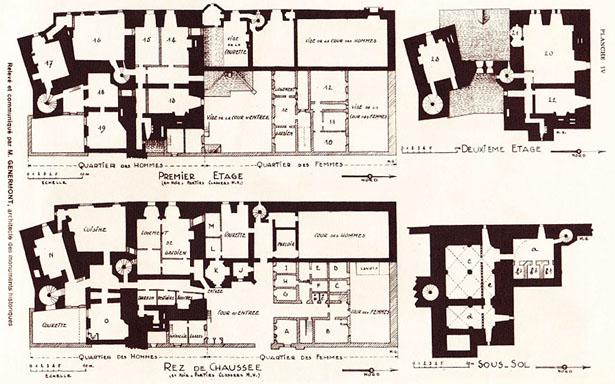 Plan de la Mal Coiffée, prison allemande à Moulins sur Allier