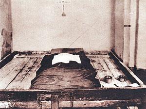 Intérieur de la cellule 22 de la Mal Coiffée, prison allemande de Moulins sur Allier