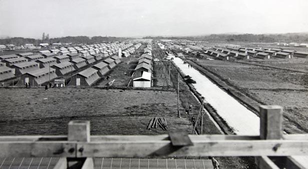 Centre d'accueil des espagnols du camp de Gurs. État des travaux au 15 avril 1939.